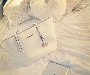 bag, white, and ipad image
