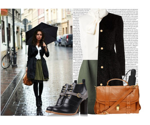 girl, rainny day, and outfit image