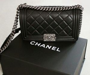 black, chanel, and silver image