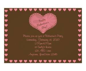 heart, valentines day, and custom invitations image