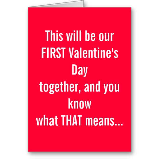 First Valentines Together Greeting Card on We Heart It – First Valentines Day Cards