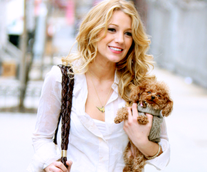 blake lively, gossip girl, and dog image