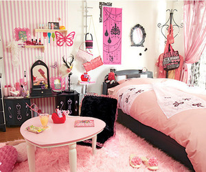 bed, bedroom, and cute image