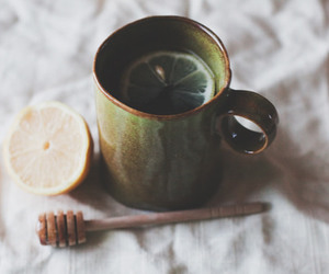 tea, lemon, and vintage image