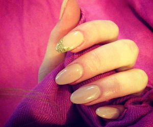nails, pink, and manichure image