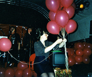 girl, balloons, and party image