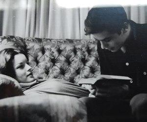 Alain Delon, couple, and Romy Schneider image