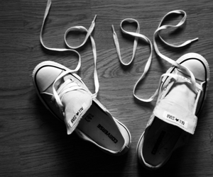 all stars, black and white, and shoes image