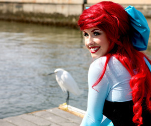 ariel, beauty, and cosplay image