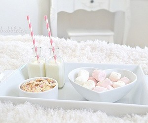 food, pink, and marshmallow image