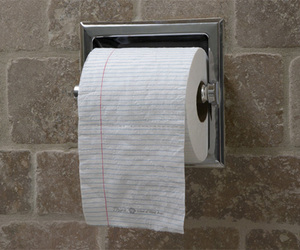 design and toilet paper image