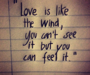 quote, love, and wind image