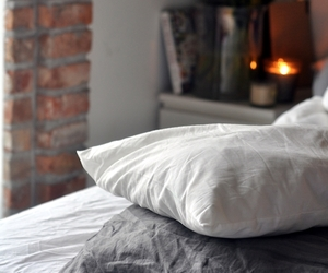 pillow, room, and bed image