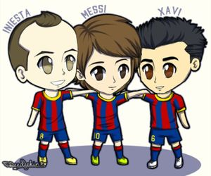 xavi, fc barcelona, and messi image