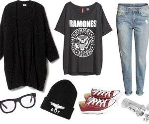 fashion, grunge, and ramones image