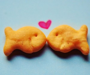 love, fish, and heart image