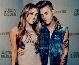 forever, justin bieber, and miley cyrus image