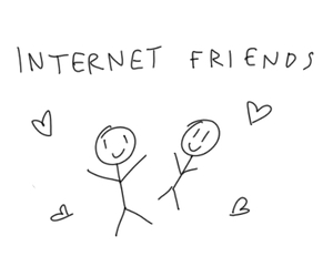 hearts, tumblr, and internet image