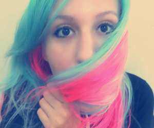 blue, hair, and pink image
