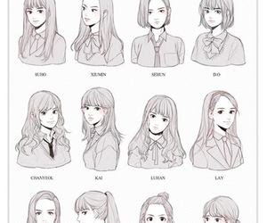 exo, fan art, and girls image
