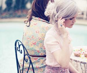 girl, vintage, and cupcake image