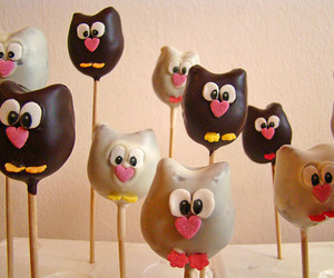 owl, cake pops, and sweet image