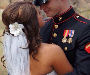 marine, love, and military image