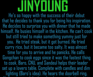 jinyoung, b1a4, and insertbiasname image