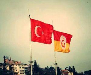 flag, galatasaray, and turkey image