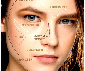makeup, contouring, and face image
