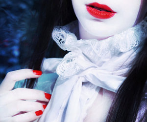 girl, red, and lips image