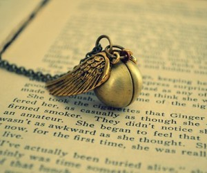 harry potter, necklace, and book image