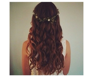 curly, flower, and flower crown image