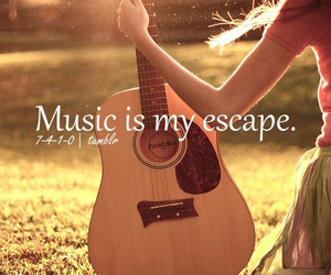 music, escape, and guitar image