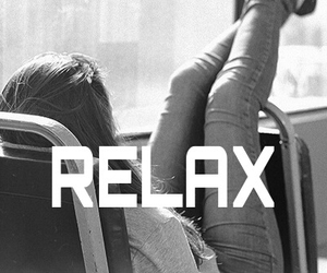 relax and black and white image