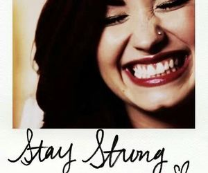 demi lovato, stay strong, and smile image