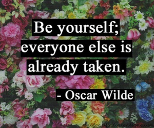 quotes, oscar wilde, and flowers image