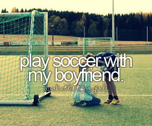 soccer, boyfriend, and play image