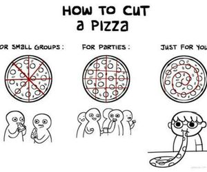 alone, eat, and pizza image