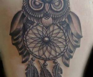 owl, tattoo, and dreamcather image