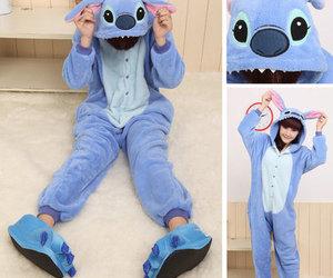 cute, stitch, and blue image