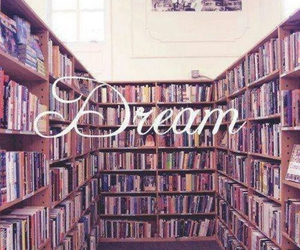 book, Dream, and library image