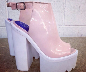 shoes, pink, and jeffrey campbell image