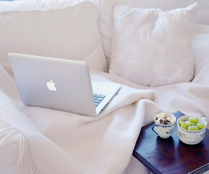 white, apple, and macbook image