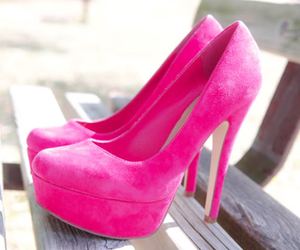 pink, shoes, and high heels image