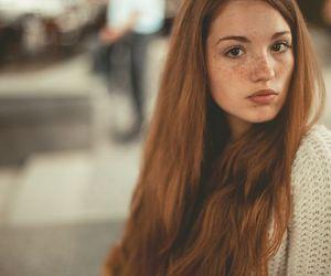 camera, girl, and redhead image