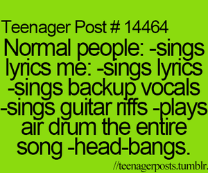 teenager post, funny, and singing image