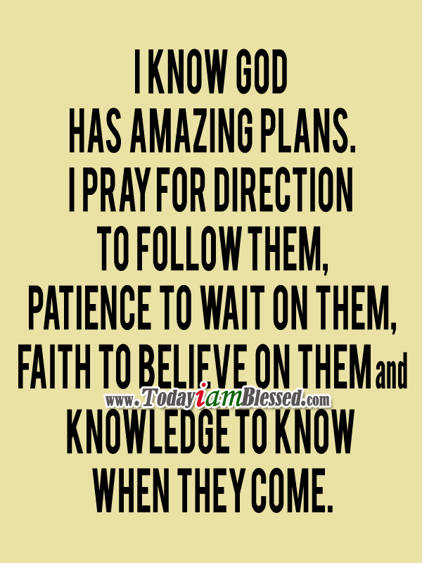 I Know God Has Amazing Plans | Yes Pin It on We Heart It