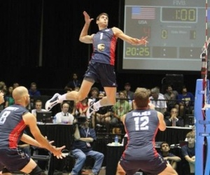 good looking, jump, and volleyball image