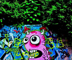 grafiti, monster, and paint image